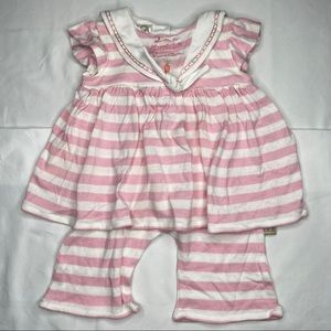 Bunnies by the bay striped sailor romper